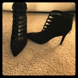 G by Guess black suede booties